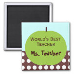 Retro Apple Persoanlized Teacher Gifts 2 Inch Square Magnet