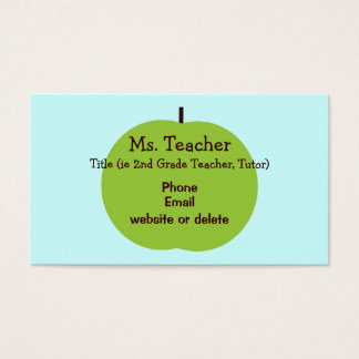 Retro Apple Teacher Business Card