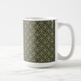 Retro Aqua and Chocolate Coffee Mug