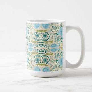 Retro Aqua and Green Coffee Mug