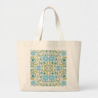 Retro Aqua and Green Design Canvas Bag