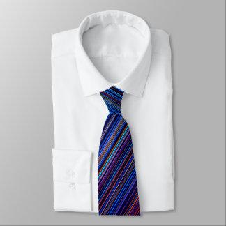 Retro aqua blue  purple striped tie