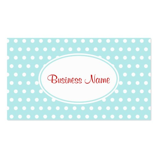 Retro Aqua Business Card