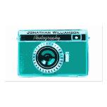 Retro Aqua Camera Photography Business Cards Business Card