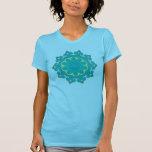 Retro Aqua Mandala Abstract 70s Vintage Look T-Shirt
