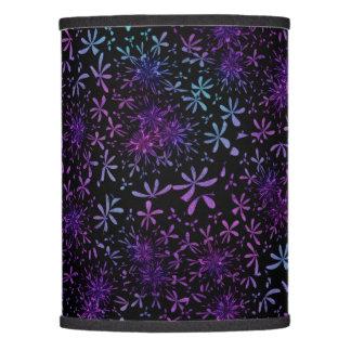 Retro Aqua Purple Floral Blossoms Lamp Shade