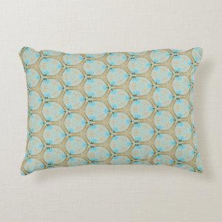 Retro Aquamarine Accent Pillow