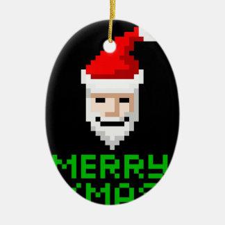 Retro arcade pixel art Santa Ornament