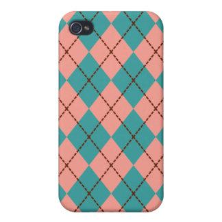 Retro Argyle iPhone Case
