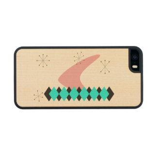 Retro Argyle Mid Century Modern Maple iPhone 5 Case