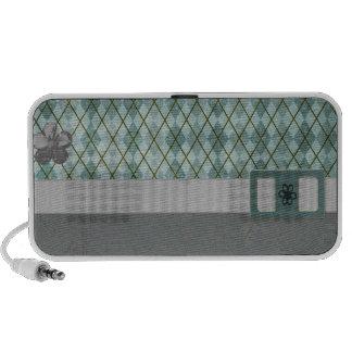 Retro Argyle Notebook Speakers