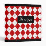 Retro Argyle Recipe Binder Scrapbook