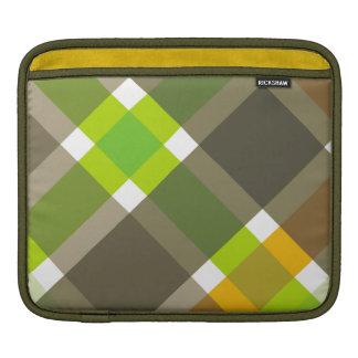 Retro Argyle Rickshaw Sleeve iPad Sleeves