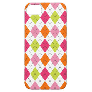 Retro Argyle Trendy Fun Hot Pink Lime Orange iPhone SE/5/5s Case