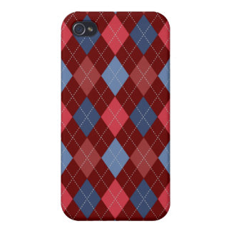 Retro Argyle Trendy USA Red Blue iPhone 4/4S Covers