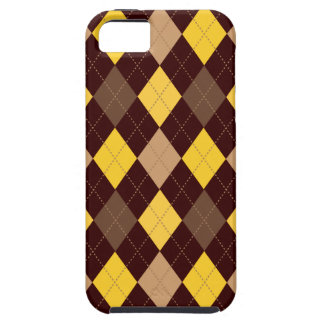 Retro Argyle Trendy Yellow Gold Brown iPhone SE/5/5s Case