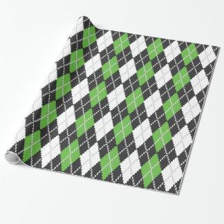 Retro Argyle Wrapping Paper