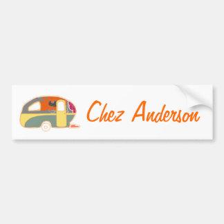 Retro Art Caravan Owner's Bumper Sticker Car Bumper Sticker