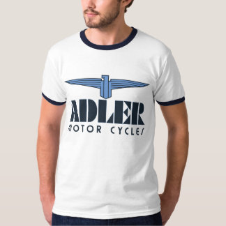 Retro art deco Adler motorcycles logo eagle wing T-Shirt