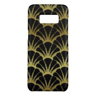 Retro Art Deco Black / Gold Shell Scale Pattern Case-Mate Samsung Galaxy S8 Case