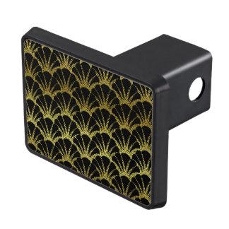 Retro Art Deco Black / Gold Shell Scale Pattern Trailer Hitch Cover
