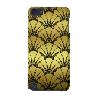 Retro Art Deco Faux Gold Shell Scale Pattern iPod Touch 5G Case