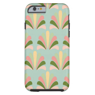 Retro Art Deco Green Pink Tough iPhone 6 Case