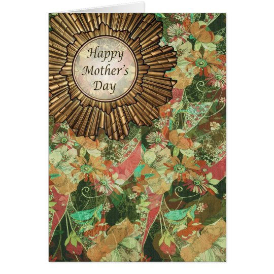 Retro / Art Deco Happy Mother's Day Card