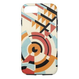 Retro Art Deco Jazz, Geometric Shapes Patterns iPhone 7 Case