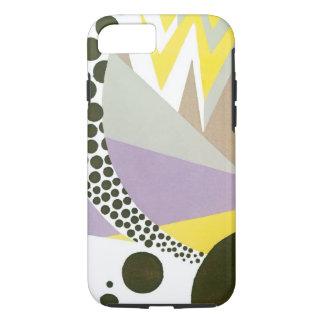 Retro Art Deco Jazz Polka Dots Zig Zag Pattern iPhone 7 Case