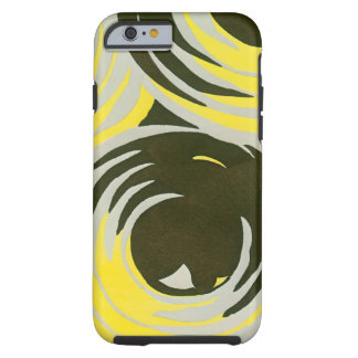 Retro Art Deco Jazz Vintage Circles Swirls Pattern iPhone 6 Case