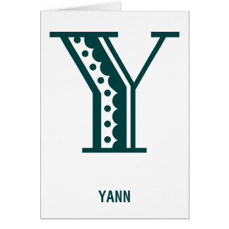 Retro art deco Mexican style letter monogram Y Card