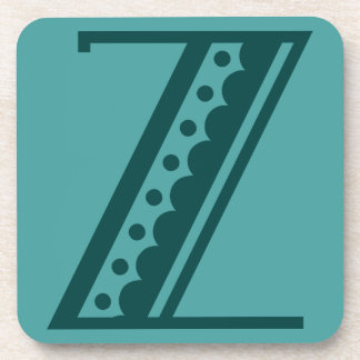 Retro art deco Mexican style letter monogram Z Drink Coaster