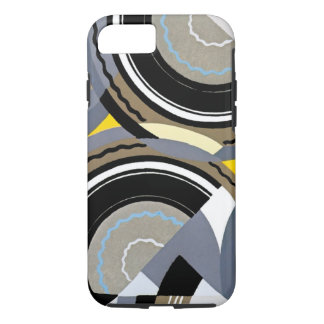 Retro Art Deco Vintage Abstract Circle Pattern iPhone 7 Case
