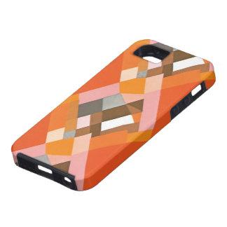 Retro Art Deco Vintage Jazz Orange Diamond Pattern iPhone 5 Cases