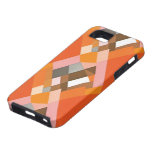 Retro Art Deco Vintage Jazz Orange Diamond Pattern iPhone SE/5/5s Case