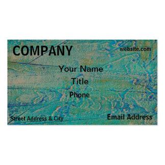 Retro Art Green Blue Textured Business Card