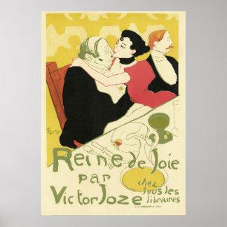 Retro Art Nouveau - Reine de Joie Poster