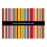 Retro art Striped Chubby Website Business Card