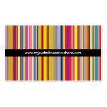 Retro art Striped Skinny Website Business Card