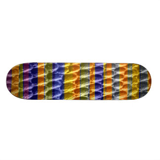 Retro art stripes graphic design skateboard