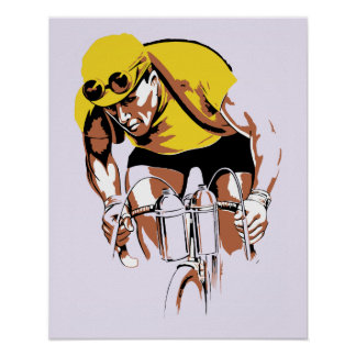 Retro art the cycling champ poster