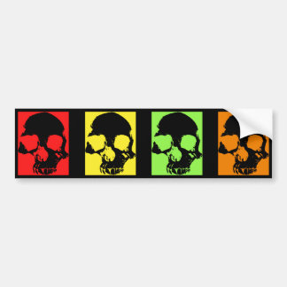 Retro artistic skulls bumper sticker