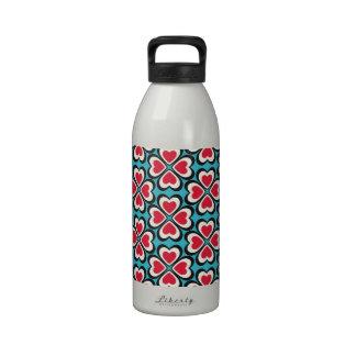 Retro Artsy Custom Design Reusable Water Bottle
