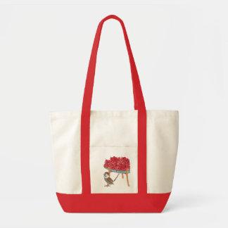 Retro Asian Bowl of Cherries Tote Bag