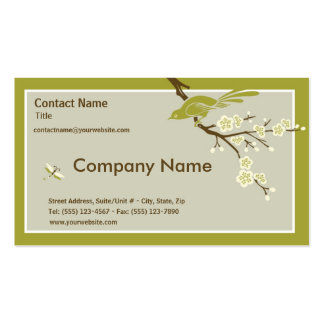 Retro Asian-Inspired Simplicity Business Card Template