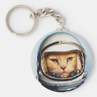 Retro Astro Cat Keychain