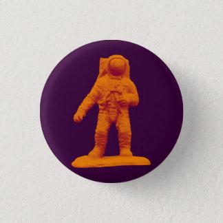 Retro Astronaut Figurine Pinback Button