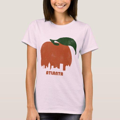 Retro Atlanta Skyline Women T Shirt Zazzle