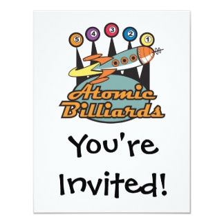 retro atomic billiards sign card